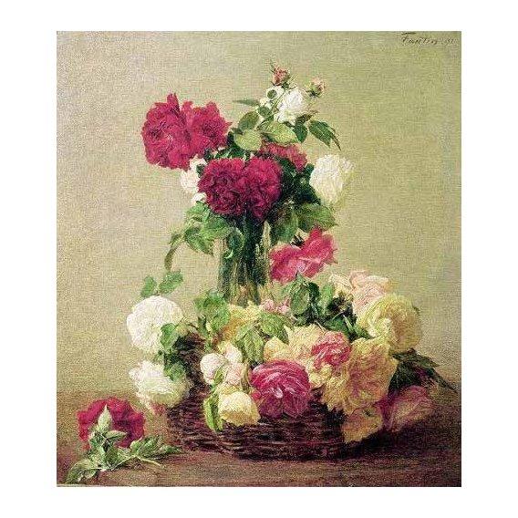 imagens de flores - Quadro -Rosas-