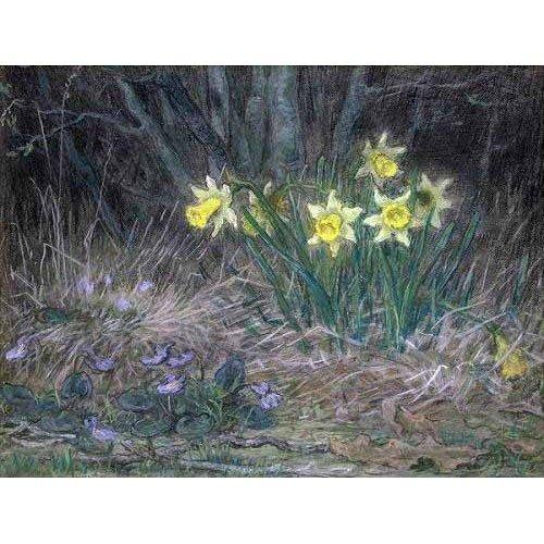 cuadros de flores - Cuadro -Narcisos y Violetas-