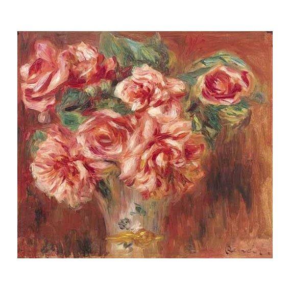 imagens de flores - Quadro -Rosas en un jarrón-