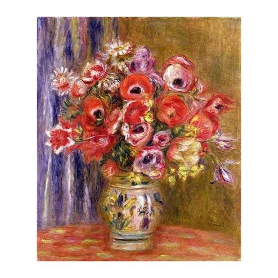 cuadros de flores - Cuadro -Jarrón de tulipanes y anémonas-