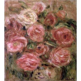 quadros de flores - Quadro -Flores (rosas)- - Renoir, Pierre Auguste