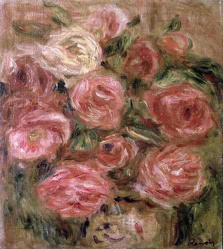 quadros-de-flores - Quadro -Flores (rosas)- - Renoir, Pierre Auguste