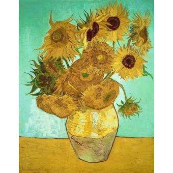 quadros de flores - Quadro - Girassois 3- - Van Gogh, Vincent