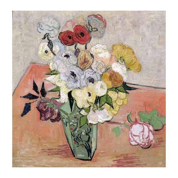 imagens de flores - Quadro -Rosas y Anémonas-