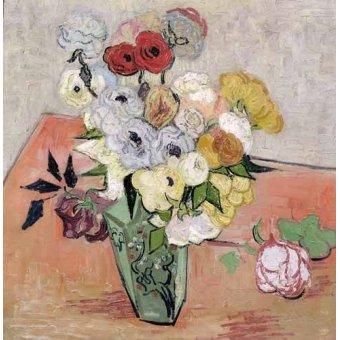 quadros de flores - Quadro -Rosas y Anémonas- - Van Gogh, Vincent