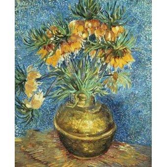quadros de flores - Quadro -Corona Imperial de Fritilárias en jarrón de cobre- - Van Gogh, Vincent