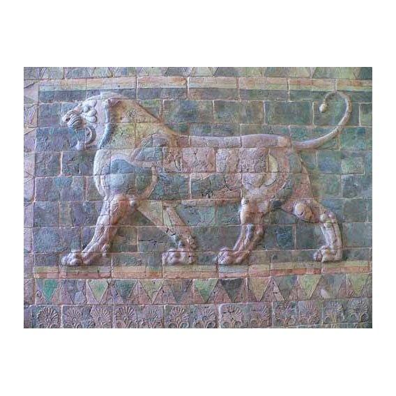 cuadros de fotografia - Cuadro -Friso de un león del palacio de Darius I-