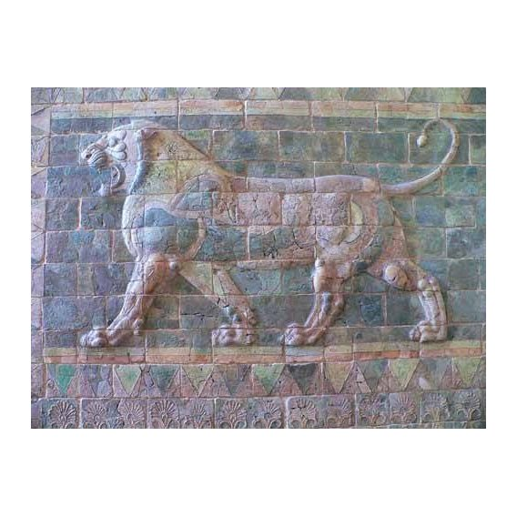 fotografia - Quadro -Friso de un león del palacio de Darius I-