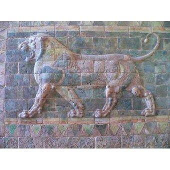 - Quadro -Friso de un león del palacio de Darius I- - _Anónimo Persa
