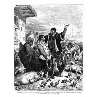 imagens de mapas, gravuras e aquarelas - Quadro -El Quijote 1-44- - Doré, Gustave