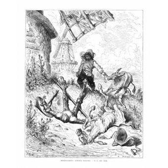 imagens de mapas, gravuras e aquarelas - Quadro -El Quijote 1-50- - Doré, Gustave