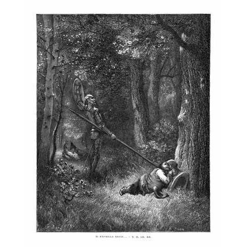 cuadros de mapas, grabados y acuarelas - Cuadro -El Quijote 2-132-