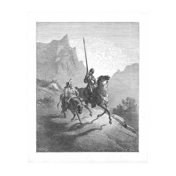 cuadros de mapas, grabados y acuarelas - Cuadro -El Quijote 0-0-