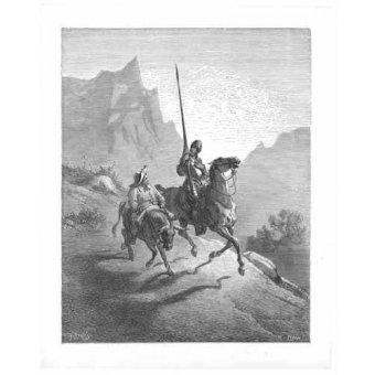 imagens de mapas, gravuras e aquarelas - Quadro -El Quijote 0-0- - Doré, Gustave