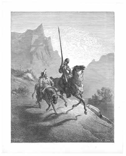 cuadros de mapas, grabados y acuarelas - Cuadro -El Quijote 0-0- - Doré, Gustave