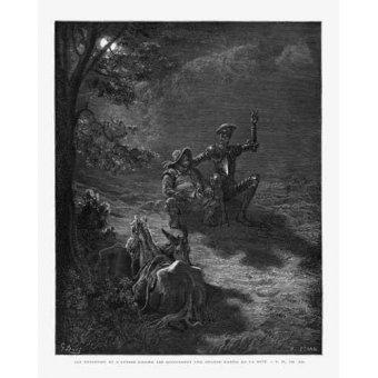 imagens de mapas, gravuras e aquarelas - Quadro -El Quijote 2-76- - Doré, Gustave