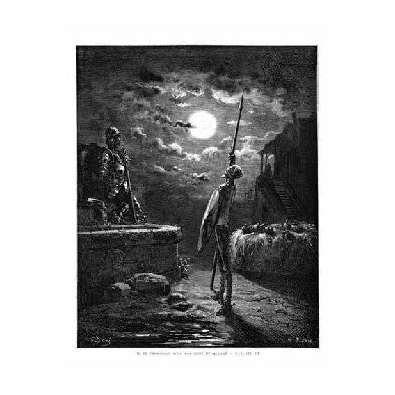 cuadros de mapas, grabados y acuarelas - Cuadro -El Quijote 1-22-