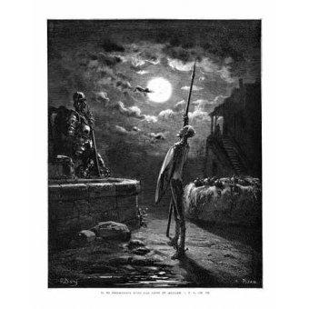 imagens de mapas, gravuras e aquarelas - Quadro -El Quijote 1-22- - Doré, Gustave