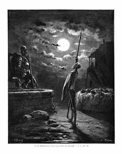 cuadros de mapas, grabados y acuarelas - Cuadro -El Quijote 1-22- - Doré, Gustave