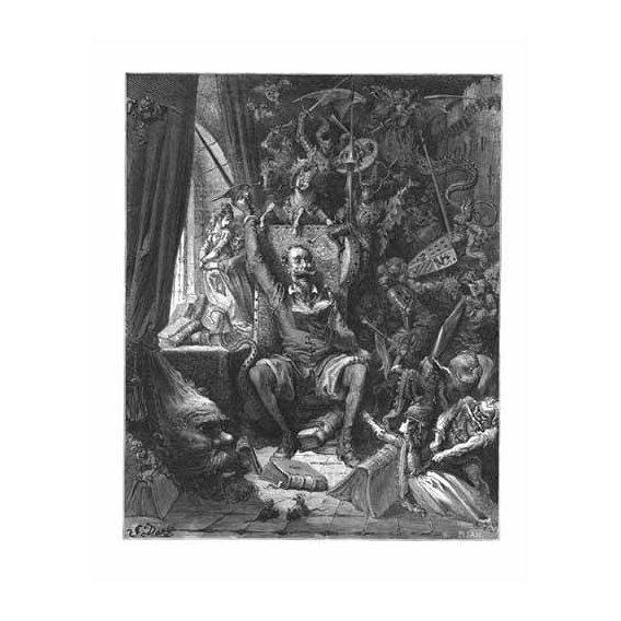 imagens de mapas, gravuras e aquarelas - Quadro -El Quijote-