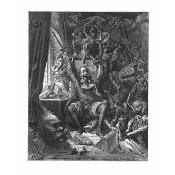 imagens de mapas, gravuras e aquarelas - Quadro -El Quijote- - Doré, Gustave