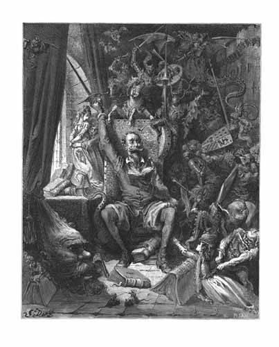 cuadros de mapas, grabados y acuarelas - Cuadro -El Quijote- - Doré, Gustave