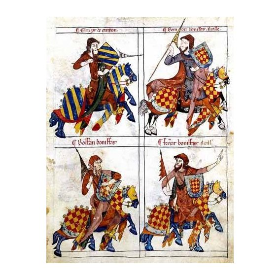 imagens de mapas, gravuras e aquarelas - Quadro -Libro de los caballeros de Santiago-1-