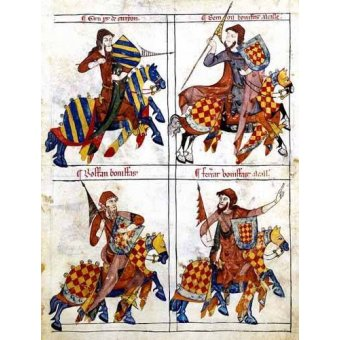 imagens de mapas, gravuras e aquarelas - Quadro -Libro de los caballeros de Santiago-1- - _Anónimo Español