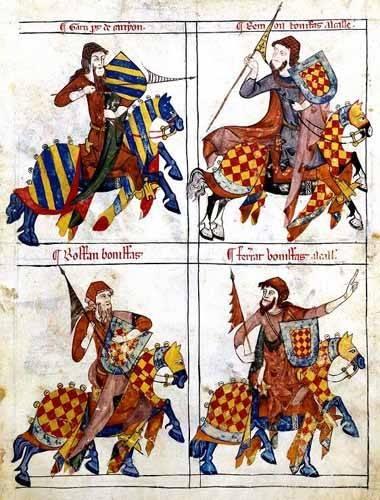 cuadros de mapas, grabados y acuarelas - Cuadro -Libro de los caballeros de Santiago-1- - _Anónimo Español