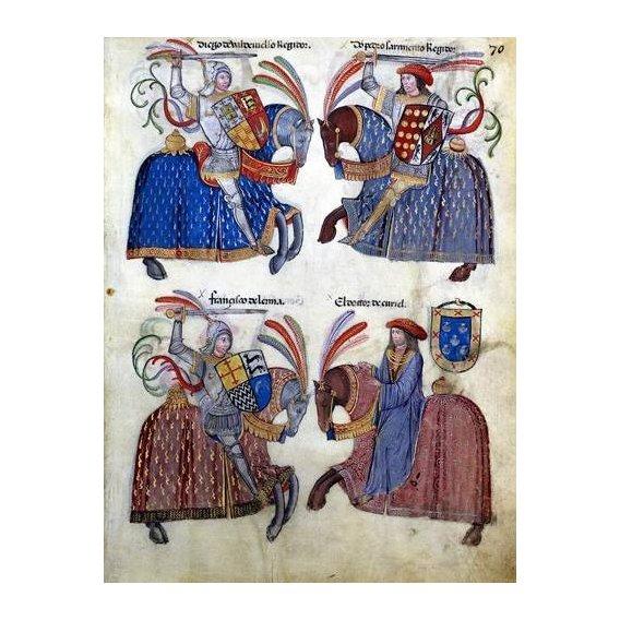 cuadros de mapas, grabados y acuarelas - Cuadro -Libro de los caballeros de Santiago-2-