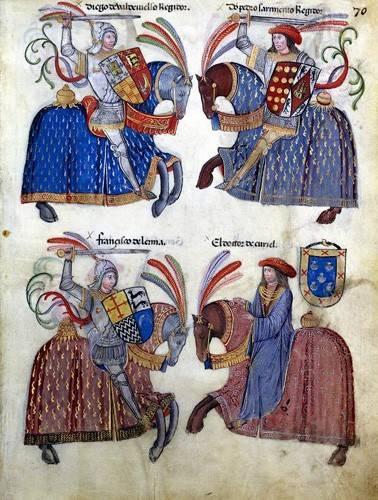 imagens-de-mapas-gravuras-e-aquarelas - Quadro -Libro de los caballeros de Santiago-2- - _Anónimo Español