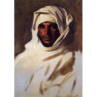 quadros étnicos e orientais - Quadro -A Bedouin Arab- - Sargent, John Singer
