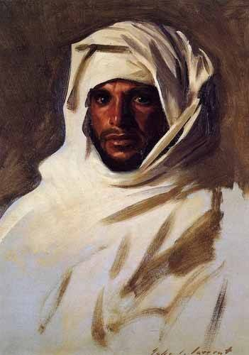 ethnic and oriental paintings - Picture -A Bedouin Arab- - Sargent, John Singer