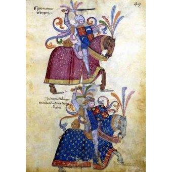 imagens de mapas, gravuras e aquarelas - Quadro -Libro de los caballeros de Santiago-4- - _Anónimo Español