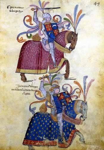 cuadros de mapas, grabados y acuarelas - Cuadro -Libro de los caballeros de Santiago-4- - _Anónimo Español
