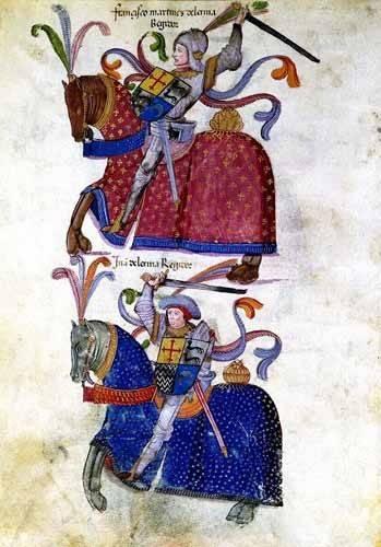 imagens de mapas, gravuras e aquarelas - Quadro -Libro de los caballeros de Santiago-5- - _Anónimo Español