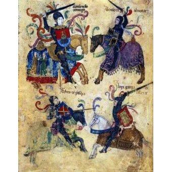 imagens de mapas, gravuras e aquarelas - Quadro -Libro de los caballeros de Santiago-6- - _Anónimo Español