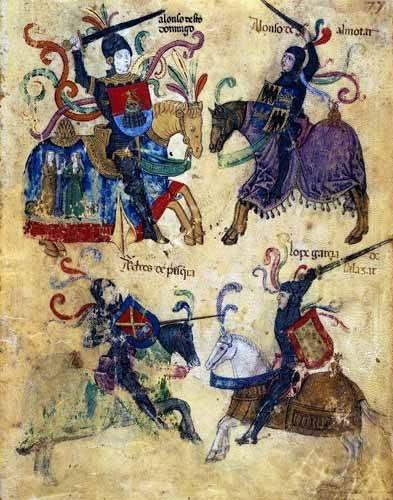 cuadros de mapas, grabados y acuarelas - Cuadro -Libro de los caballeros de Santiago-6- - _Anónimo Español