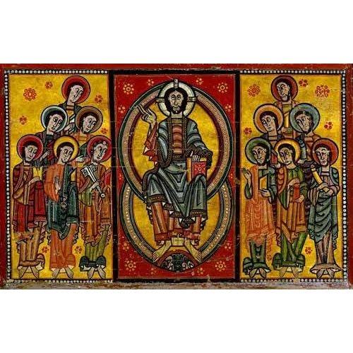 imagens de mapas, gravuras e aquarelas - Quadro -Pantocrator y Apóstoles-