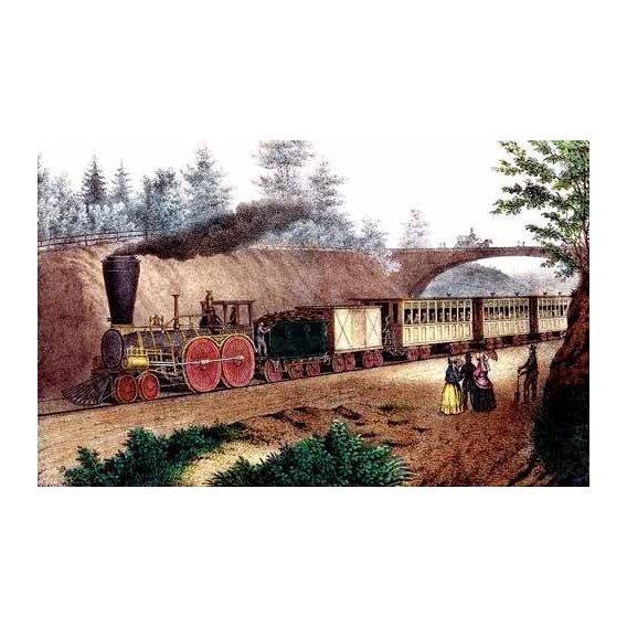imagens de mapas, gravuras e aquarelas - Quadro -El tren expresso-