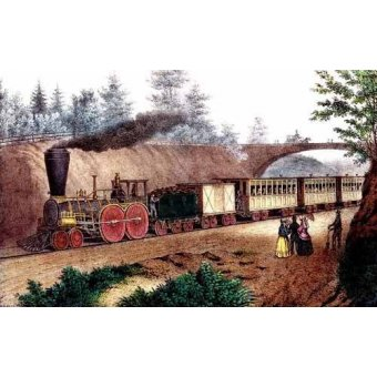 maps, drawings and watercolors - Picture -El tren expresso- - Currier Nathaniel y Ives James