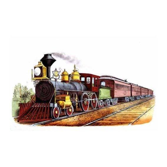 imagens de mapas, gravuras e aquarelas - Quadro -Tren expresso directo-