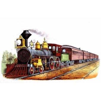 imagens de mapas, gravuras e aquarelas - Quadro -Tren expresso directo- - Currier Nathaniel y Ives James