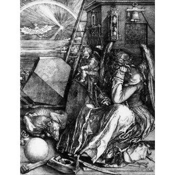 imagens de mapas, gravuras e aquarelas - Quadro -Melancolía I- - Dürer, Albrecht (Albert Durer)