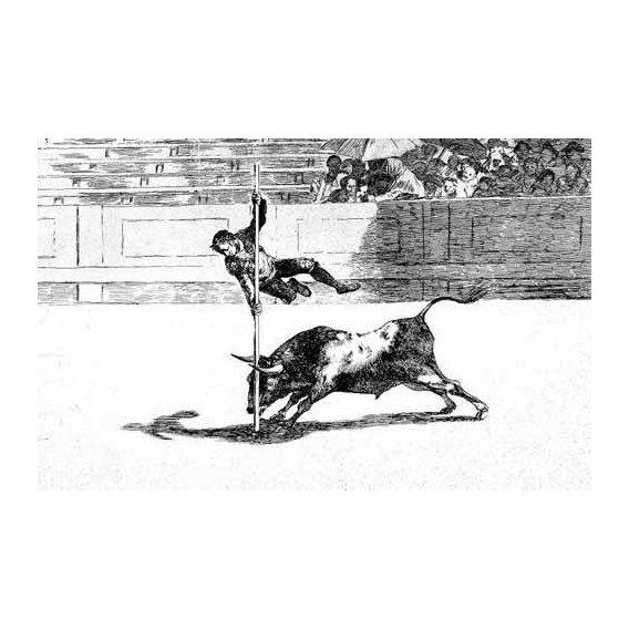 cuadros de mapas, grabados y acuarelas - Cuadro -Tauromaquia num. 20: Ligereza y atrevimiento-