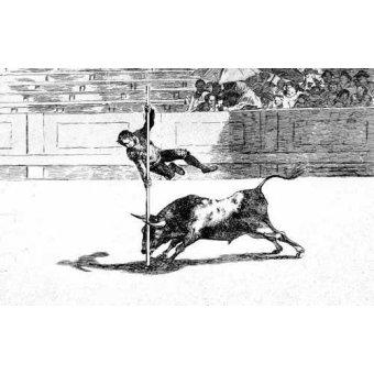 imagens de mapas, gravuras e aquarelas - Quadro -Tauromaquia num. 20: Ligereza y atrevimiento- - Goya y Lucientes, Francisco de