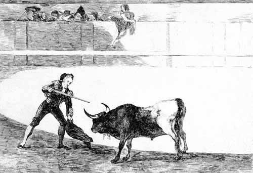 cuadros de mapas, grabados y acuarelas - Cuadro -Tauromaquia num.30: Pedro Romero matando a toro parado- - Goya y Lucientes, Francisco de