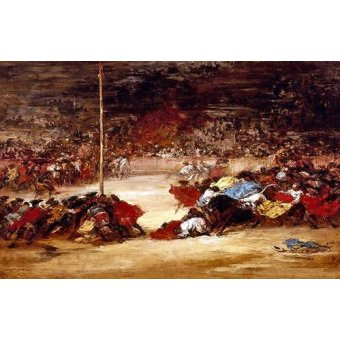 imagens de mapas, gravuras e aquarelas - Quadro -La corrida- - Goya y Lucientes, Francisco de