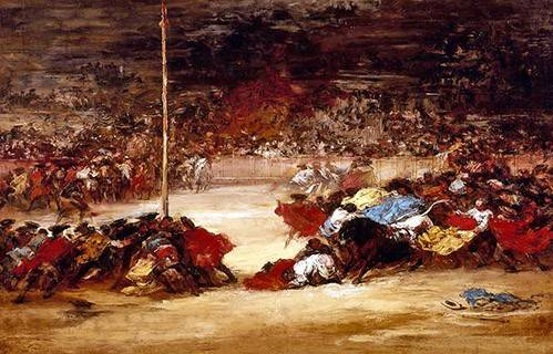 cuadros de mapas, grabados y acuarelas - Cuadro -La corrida- - Goya y Lucientes, Francisco de