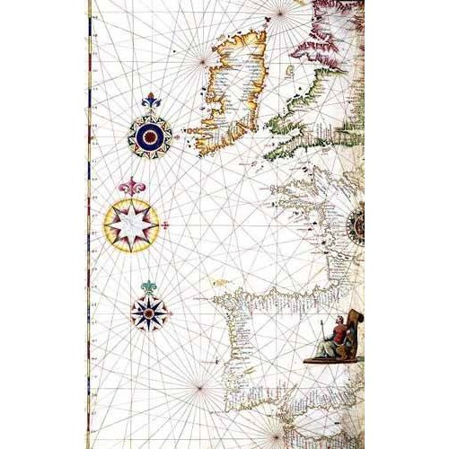 Quadro -Atlas portugués, 1565 (Diego Homm)- MAPAS